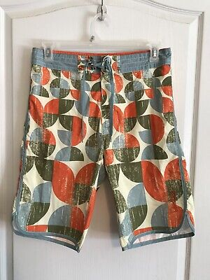 3e24eabdb4 Mens Island Haze Swim & Surf Board Shorts Swim Trunks Sz M Blue Orange  White Gre