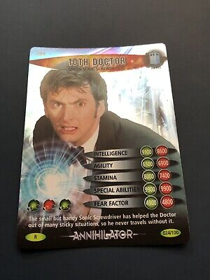 Doctor Who Battles In Time Annihilator 10th Doctor W/Son Screwdriver Rare 24/100