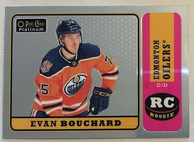 2018-19 Evan Bouchard O-Pee-Chee Opc Platinum Marquee Rookie Retro #R-83 Oilers