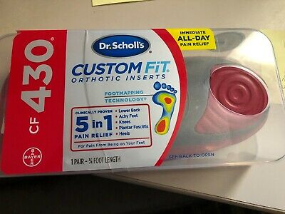 NEW Dr. Scholl's CF430 Custom Fit Orthotic Inserts Dr.Scholl's Dr Scholls CF 430