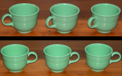 3 Fiesta Fiestaware Coffee Espresso Tea Cups Sea Mist Green Homer Laughlin