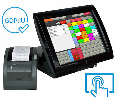 "Catering till Cash Register System Aures 38cm 15 "" Elo Touchscreen Printer Gdpdu"