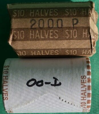 2000 P and D BU Kennedy Half Dollar Roll 40 Coins Total Two Rolls 20 coins each