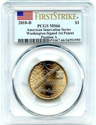 2018-D Innovation Unc Dollar, Position A, PCGS MS-66 First Strike, Flashy!