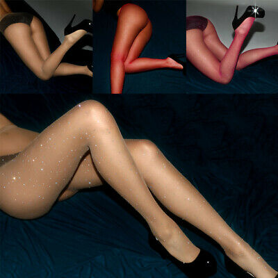 12271c8d6d8 Women Sexy Glitter Fishnet Tights High Stockings Sheer Pantyhose Hosiery  Socks