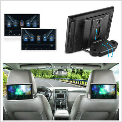 """2*10.1""""HD Android 7.1 Quad-Core Car Headrest Monitors 3G/4G BT HDMI Touch Screen"""