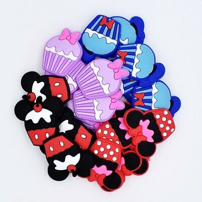 Kindergarten Kids Gifts 50pcs New Cakes PVC Shoe Charms Fit Clog/Wristbands