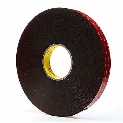 "3M 5952 VHB Tape, Black 1"" Wide x 36 Yards Long, 45.0 Mil (Pack of 1)"
