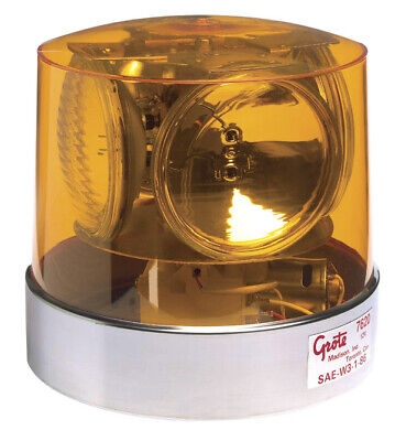Grote 76203 Yellow Compact Four Sealed-Beam Roto-Beacon