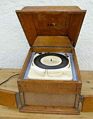 Vintage HMV Gramophone Record Player & BSR HF100 Turntable - Working Restoration
