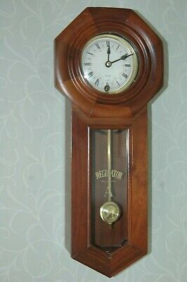 """Antique Reproduction Regulator """"a"""" 31 Day Wall Clock."""