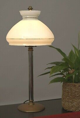 Unique Art Nouveau Type Deco Table Lamp Desk Lamp Collector's Item Brass Lamp