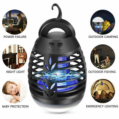 2in1 USB Insect Mosquito Killer Repellent Flying Bug Zapper Hanging Camping Lamp