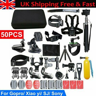 GoPro Accessories Kit Action Camera Accessory Set with Strap Case 50 In 1