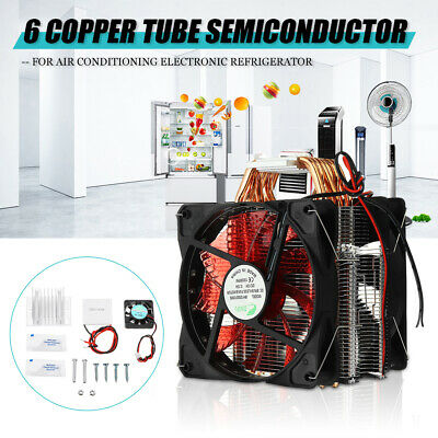 12V 120W 6 Copper Tube Semiconductor Cooler System Air Conditioning Refrigerator