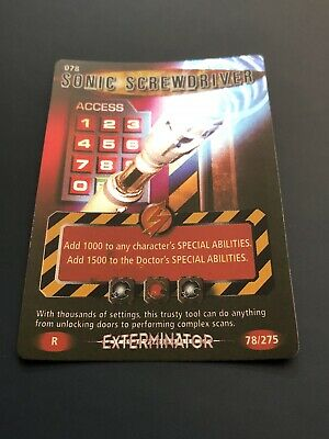 BBC Doctor Who Battles In Time Exterminator Sonic Screwdriver Rare 78/275
