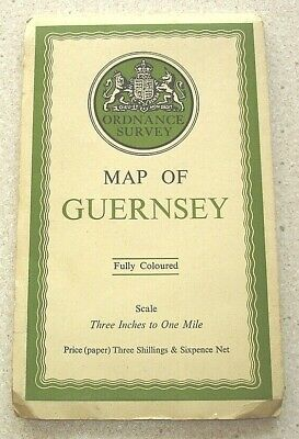 Ordnance Survey Map of Guernsey 1934. Three Inches to One Mile