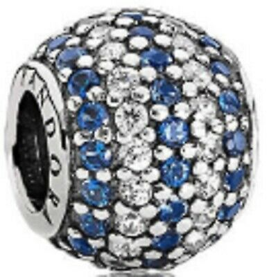 9339f10ff New Genuine Silver Cz PANDORA Nautical Blue Pave Lights Charm 791172NCB RRP  £55