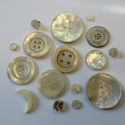 A Collection of Antique & Vintage Mother of Pearl Buttons
