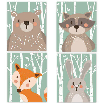 Wall Painting Animal For Baby Room Decor Canvas Print Painting Poster Unframed