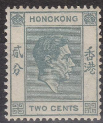 e630) Hong Kong. 1938/52. MM. SG 141a 2c Grey. Royalty