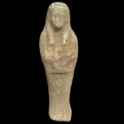 EGYPTIAN HIEROGLYPHIC SHABTI, LATE PERIOD 664 - 332 BC (7) LARGE OVER 9 cm TALL
