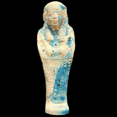 EGYPTIAN HIEROGLYPHIC SHABTI, LATE PERIOD 664 - 332 BC (9) LARGE OVER 17 cm TALL