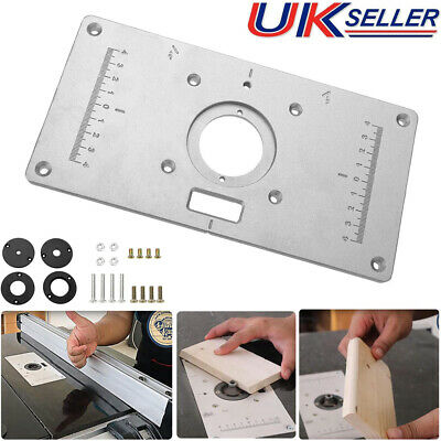 New Aluminum Router Table Insert Plate 235 x 120 x 8mm With Ring For Woodworking