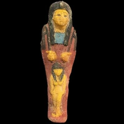 EGYPTIAN HIEROGLYPHIC SHABTI, LATE PERIOD 664 -332 BC (11) LARGE OVER 17 cm TALL