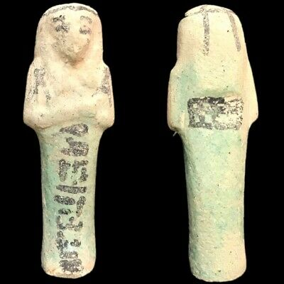 EGYPTIAN HIEROGLYPHIC SHABTI, LATE PERIOD 664 -332 BC (13) LARGE OVER 10 cm TALL