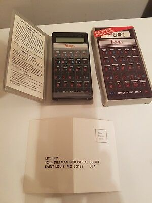 TRIPP Electronic Travel Guide Calculator Incredibly rare now. Looks unused.