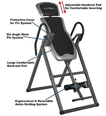 Innova Heavy Duty Fitness ITX9600 Deluxe Adjustable Inversion Back Therapy Table