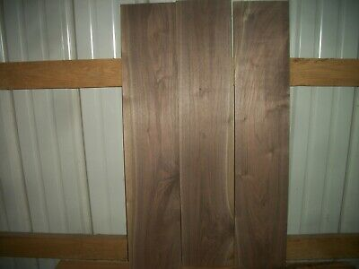 "3 Pc Walnut Lumber Wood Kiln Dried Boards 1/2"" Thick Lot 1215Z End Matched Flat"