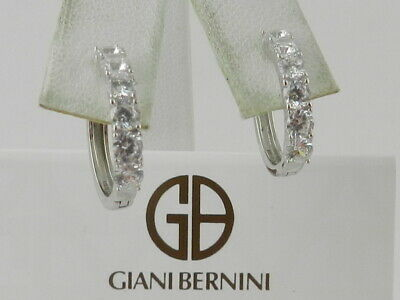 0c21dc132 Giani Bernini Small Cubic Zirconia Hoop Earrings in Sterling Silver, 0.6