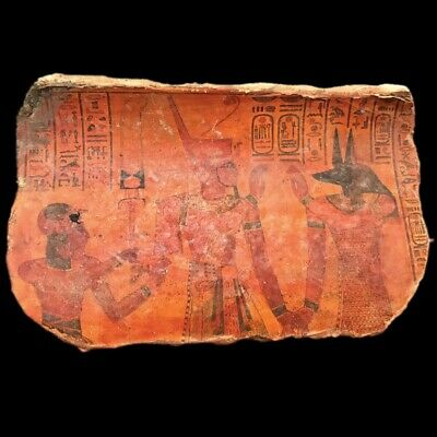 BEAUTIFUL LARGE ANCIENT EGYPTIAN PLAQUE 300 BC (2) 15 cm WIDE !!!!!