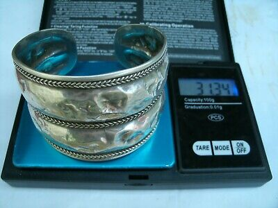 Vintage Birmingham Import Sterling Silver Wide Cuff Bangle