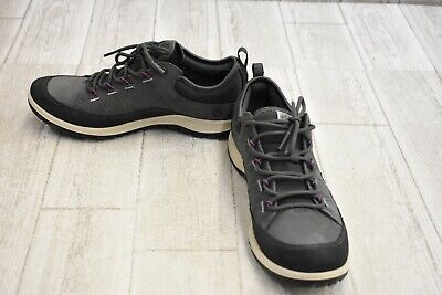 hell im Glanz klare Textur Original Kauf ECCO ASPINA LOW Cut Hiking Moonless Leather Sneakers Shoes ...