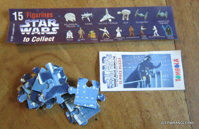 Star Wars Puzzle Tombola / Dark Vador Complet + Bpz Comme Kinder