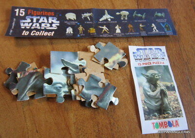 Star Wars Puzzle Tombola / Yoda Complet + Bpz Comme Kinder