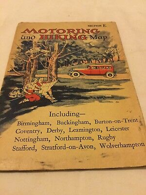 Old Map Motoring And Hiking Section E