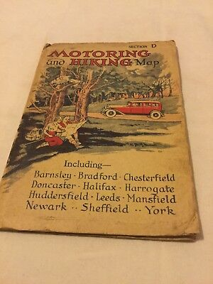 Old Map Motoring And Hiking Section D