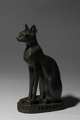 Ancient Egypt Egyptian Antiques Gods Bastet Cat Ubasti Pharaoh Carved Stone BCE