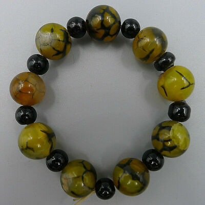 Natural Jewelry Bangle Charm Obsidian Beads Handmade Multicolor Matte Agate Onyx