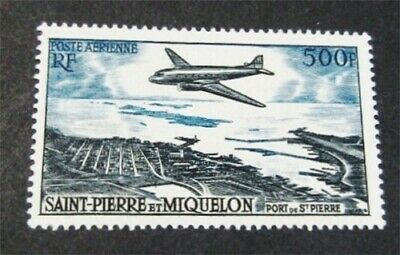 nystamps French St. Pierre & Miquelon Stamp # C20 Mint OG H $63