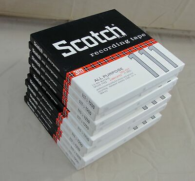 """Lot 10 Scotch 111 3M Recording Magnetic Tape 7"""" Reel 1/4"""" 1200 Feet Two Sided"""