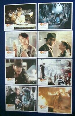 Raiders Of The Lost Ark Original 11X14 Lobby Card Set Of 8 Harrison Ford