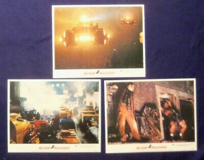 3 BLADE RUNNER ORIGINAL 11X14 LOBBY CARDs #3,4,8 1982 HARRISON FORD SEAN YOUNG