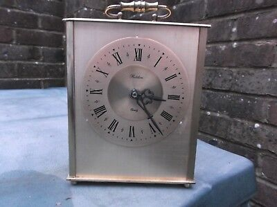 Attic find Smiths all solid Brass mantle clock(Quartz), made in GB, see details.