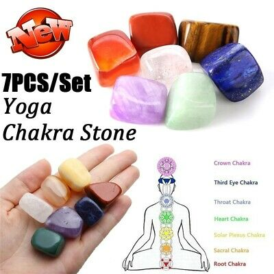7pcs Natural Palm stones Tumbled stone Crystal Reiki Quartz Healing Chakra DIY