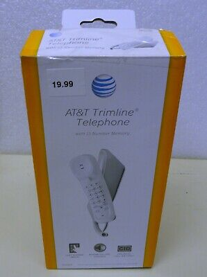 AT&T Trimline Telephone w/ 13 Number Memory NEW TR1909 - White